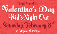 Exxcel Valentines Day Kids Night Out 2020